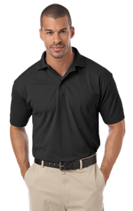 MEN'S IL-50 POLO NO POCKET  -  BLACK 2 EXTRA LARGE SOLID