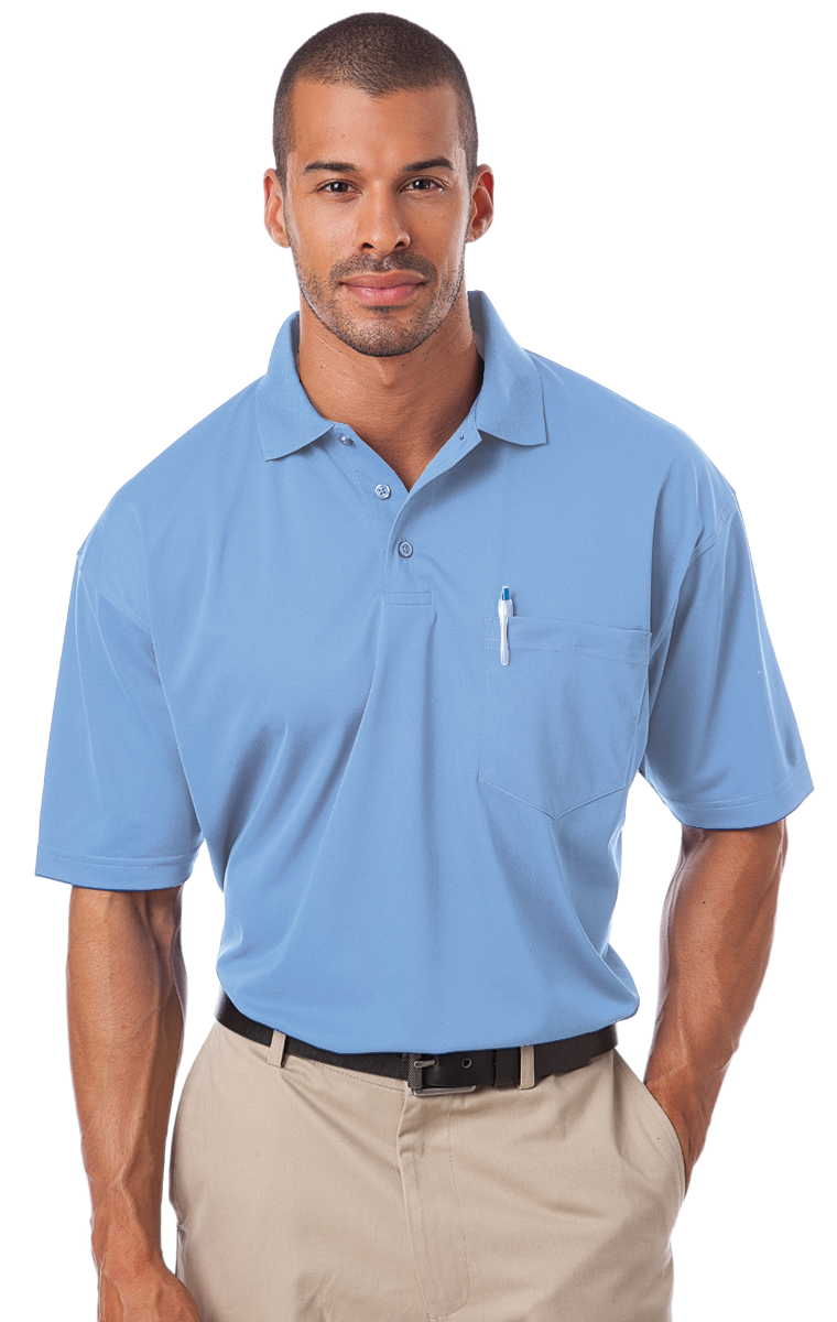 Blue Generation Mens 1052 Pocketed Polo