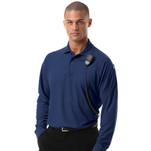 L/S ADULT TACTICAL SHIRT NAVY SMALL SOLID