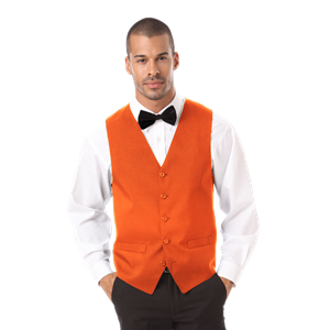 MEN'S TEFLON TWILL VEST  -  ORANGE EXTRA LARGE SOLID