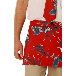 WAIST APRON CO#  -  HIBISCUS PRINT ONE SIZE WAIST PRINT