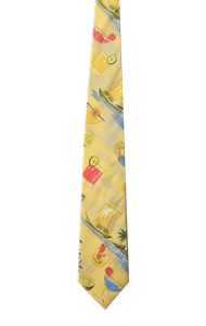 TROPICAL TIES CO#  -  COCKTAIL PRINT ONE SIZE TIE PRINT