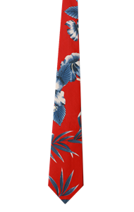 TROPICAL TIES CO#  -  HIBISCUS PRINT ONE SIZE TIE PRINT