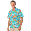 UNISEX TROPICAL PRINT CAMPSHIRT  -  TROPIC PRINT EXTRA SMALL PRINT