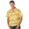 UNISEX TROPICAL PRINT CAMPSHIRT  -  COCKTAIL PRINT EXTRA SMALL PRINT