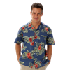 UNISEX TROPICAL PRINT CAMPSHIRT  -  FLORAL PRINT EXTRA SMALL PRINT
