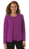 LADIES LONG SLEEVE CARDIGAN  -  BERRY EXTRA SMALL SOLID
