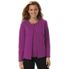 LADIES LONG SLEEVE CARDIGAN  -  BERRY MEDIUM SOLID