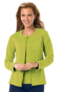 LADIES LONG SLEEVE CARDIGAN  -  KIWI EXTRA SMALL SOLID