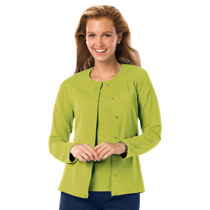 LADIES LONG SLEEVE CARDIGAN#  -  KIWI EXTRA LARGE SOLID