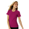 LADIES SHORT SLEEVE JEWEL NECK CO# - BERRY EXTRA SMALL SOLID