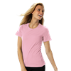 LADIES SHORT SLEEVE JEWEL NECK CO# -  PINK 2 EXTRA LARGE SOLID