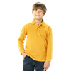 YOUTH LONG SLEEVE SUPERBLEND PIQUE -  YELLOW EXTRA SMALL SOLID