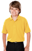 YOUTH VALUE MOISTURE WICKING S/S POLO  -  YELLOW EXTRA LARGE SOLID