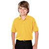 YOUTH VALUE MOISTURE WICKING S/S POLO  -  YELLOW EXTRA SMALL SOLID