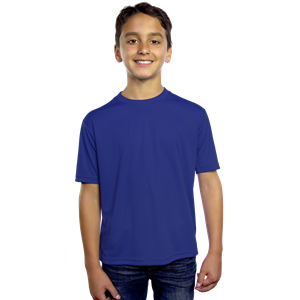 YOUTH SOLID WICKING T  -  ROYAL EXTRA SMALL SOLID