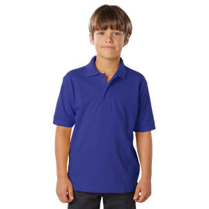 YOUTH SOFT TOUCH PIQUE POLO  -  ROYAL EXTRA SMALL SOLID