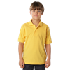 YOUTH SOFT TOUCH PIQUE POLO  -  YELLOW EXTRA SMALL SOLID
