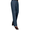 LADIES FLAT FRONT TEFLON TREATED TWILL PANTS  -  NAVY LENGTH 32 WAIST 10