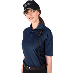 LADIES IL-50 TACTICAL POLO  -  NAVY SMALL SOLID