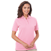 LADIES SHORT SLEEVE 100% COTTON PIQUE POLO CO# -  PINK EXTRA LARGE SOLID