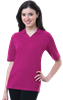 LADIES SHORT SLEEVE V-NECK  -  BERRY EXTRA LARGE SOLID
