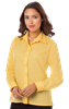 LADIES L/S LIGHT WEIGHT POPLIN SHIRT  -  MAIZE EXTRA LARGE SOLID