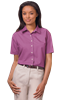LADIES SHORT SLEEVE  EASY CARE POPLIN ###  -  MULBERRY EXTRA LARGE SOLID