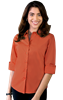 LADIES EASY CARE STRECTH POPLIN  -  CORAL EXTRA SMALL SOLID
