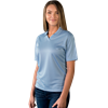 LADIES SOLID WICKING V-NECK  -  LIGHT BLUE EXTRA LARGE SOLID