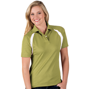 LADIES WICKING CONTRAST INSERT   -  VEGAS GOLD EXTRA LARGE TRIM WHITE