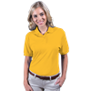 LADIES WICKING SOLID SNAG RESIST POLO   -  YELLOW EXTRA LARGE SOLID