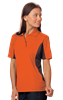 LADIES COLOR BLOCK WICKING  -  ORANGE EXTRA LARGE TRIM GRAPHITE