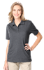 LADIES HEATHERED WICKING POLO  -  GREY HEATHER EXTRA LARGE SOLID