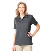 LADIES HEATHERED WICKING POLO  -  GREY HEATHER SMALL SOLID