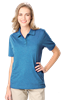 LADIES HEATHERED WICKING POLO  -  HEATHER TURQUOISE EXTRA LARGE SOLID