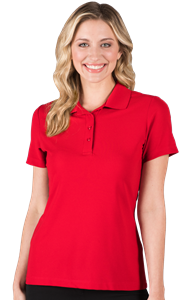LADIES ULTRA LUX POLO  -  RED EXTRA SMALL SOLID
