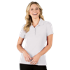LADIES ULTRA LUX POLO  -  WHITE EXTRA SMALL SOLID