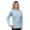 LADIES L/S UNTUCKED PLAID NO POCKET AQUA EXTRA SMALL SOLID