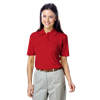 LADIES VALUE MOISTURE WICKING S/S POLO  -  RED EXTRA LARGE SOLID