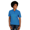 LADIES VALUE MOISTURE WICKING S/S POLO  -  TURQUOISE EXTRA LARGE SOLID