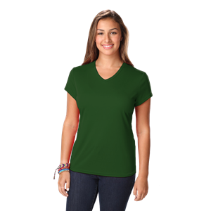 LADIES SOLID WICKING T  -  HUNTER EXTRA SMALL SOLID