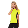 LADIES COLORBLOCK WICKING TEE  -  OPTIC YELLOW SMALL SOLID