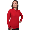 LADIES SOFT TOUCH LONG SLEEVE POLO  -  RED EXTRA LARGE SOLID