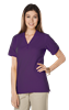 LADIES SOFT TOUCH S/S Y-PLACKET  POLO  -  PURPLE EXTRA LARGE SOLID