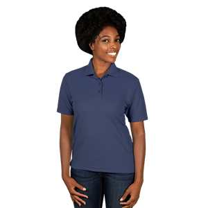 LADIES AVENGER MICRO PIQUE S/S POLO NAVY SMALL SOLID
