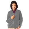LADIES POLAR FLEECE FULL ZIP JACKET  -  GREY SMALL SOLID