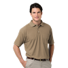 MENS SHORT SLEEVE TEFLON TREATED PIQUES WITH POCKET  -  TAN EXTRA SMALL SOLID