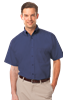 MEN'S S/S LIGHT WEIGHT POPLIN SHIRT  -  NAVY EXTRA LARGE SOLID