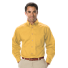 MENS LONG SLEEVE TEFLON TWILL  -  MAIZE EXTRA SMALL SOLID